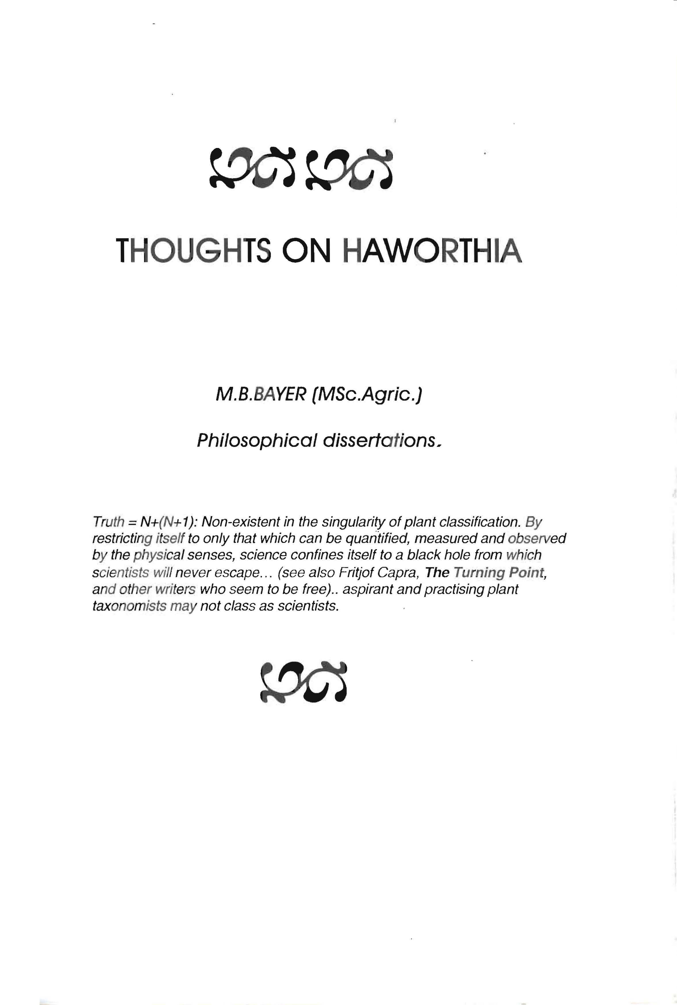 Dissertation Preface Miserables